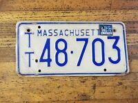 Vintage LICENSE PLATE Massachusetts TT 48 703 Car Tags Plates 1960 MAN Cave ☆USA