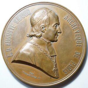 SECOND EMPIRE : RARE ET GROSSE MEDAILLE DE Mgr SIBOUR ARCHEVEQUE DE PARIS 1854