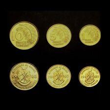 GUINEE - SET / LOT de 3 PIECES - 1 5 10 FRANCS - 1985 - NEUF