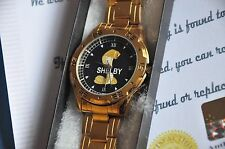 24K Gold Plated Ford Mustang Shelby GT GT500 Snake Muscle Car Wrist Watch Gift
