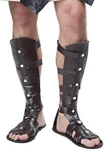 Gladiator Sandals Adult Costume Maximus Roman Greek Egyptian Spartan Shoes Mens
