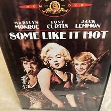 Some Like It Hot Dvd Marilyn Monroe Tony Curtis Jack Lemmon Mgm 1959