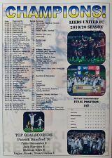 Leeds United 2020 Championship champions - souvenir print