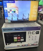 NEW Sharp 50 Inch Class LED 1080p SMART FULL HDTV Roku TV LC-50LB481U SEALED BOX