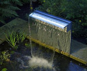 Ubbink Niagara 60 LED SET Wasserfall-Set Edelstahl Beleuchtet