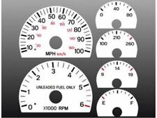 1997-2001 Jeep Cherokee Dash Cluster White Face Gauges 97-01