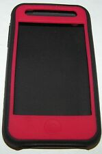 GripSkin high grade silicone soft case for iPhone 3G/3GS, Red & Black, Matte