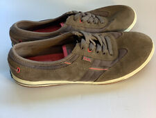 KEDS Ortholite Sneakers Women's Size 8M Brown Suede/Pink Trim Lace Walking Shoes