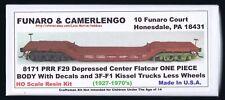 Funaro F&C 8171 DEPRESSED CENTER Flat PRR Pennsylvania 1-PC WITH KIESEL TRUCKS