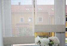 Scheibengardinen 2 x Breite 40 x Höhe 85/99 cm- neu - modern Gardine Paneel