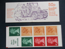 Fb10A Automobiles 1907 Rolls Royce Silver Ghost 50P Machin Stamp Booklet Perf E2