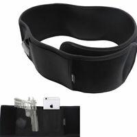 Tactic Left Hand Belly Band Gun Conceal Carry Holster Draw Handgun Belt Pouch