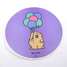 """Vintage 1980s 80s RPP Boynton Large 4"""" Round Sticker Bear with Colored Balloons"""