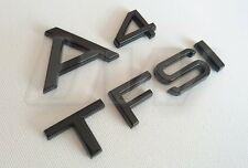 CUSTOM GLOSS BLACK A4 & TFSI BADGE SET LETTERING AUDI S LINE BLACK EDITION S4