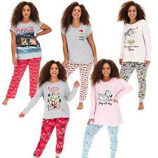 Ladies Womens Novelty Character Christmas Dalmations PJs Pyjamas Set Plus Size