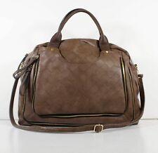 Big Buddha Brown Poly Women's Woven Zip Shoulder Handbag