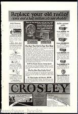 1928 CROSLEY Radio advertisement, Neutrodyne radio, Gembox etc