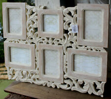 GORGEOUS  Rustic Wood Multi  Photo Frame Wall Collage     BRAND NEW