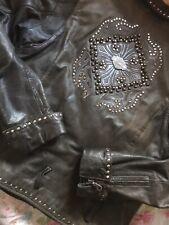 Coole Harley Davidson Nieten Lederjacke H.D. Leather Jacket Leder Jacke M Topp!