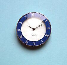 45mm BEZEL Quartz watch inserts blue facet lens Roman numbers chrome bezel