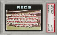 1971 TOPPS # 357 CINCINNATI REDS TEAM, PSA 8 NM-MT, JOHNNY BENCH / PETE ROSE