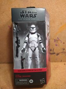 STAR WARS THE BLACK SERIES ATTACK OF THE CLONES PHASE I CLONE TROOPER/HASBRO
