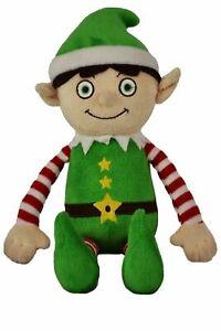 Christmas Elf - SOFT TOY - brand new - 30cm tall.  naughty/good Boy elf.
