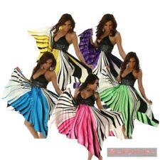 Halter Regular Dresses Stripes