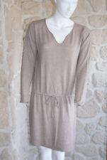 d1da99cf714 Robe beige neuve taille unique avec laine marque Why Not (bl)