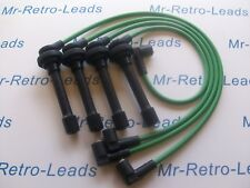 GREEN 8MM IGNITION LEADS FOR HONDA CIVIC D SERIES AERODECK 1.4i 15 16 16V HT