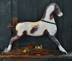 Vintage Wooden Pinto Horse