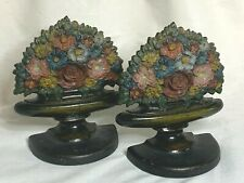 Bradley and Hubbard Victorian Flower Urn floral bouquet bookends