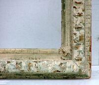 "FRAME AMERICAN LARGE COLONIAL c.1850 VINTAGE CARVED WOOD FITS 52"" x 42"""