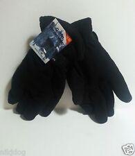 Mens' Black Fleece Winter Gloves One Size