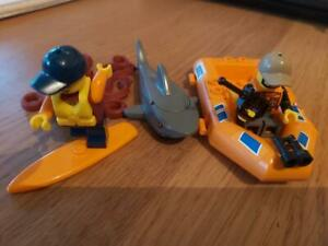 LEGO. Lego City: Surf Patrol, Surf board/boat 2 figures extras as pictured. vgc.