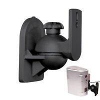 1 Pair Rotatable Surround Sound Speaker Wall Mount Bracket Stand Holders Hanger