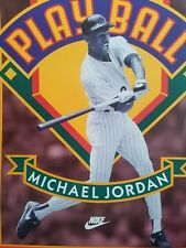 MICHAEL JORDAN BASEBALL POSTER 1994 NIKE PLAYBALL VINTAGE ORIGINAL CHICAGO W SOX