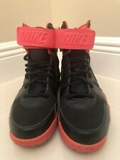 """Nike Air Shark Trainer Shoes Rare Prototype """"Look See"""" Sz 9 Black/Atomic Red"""