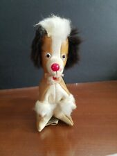 Vintage Small Stuffed Fur & Fabric Dog/ made in Japan