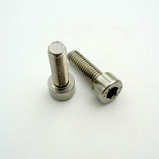 Stainless Steel Bottle Cage Mounting Bolts, 5mm Socket Head Fitting
