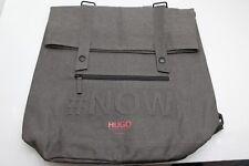 Hugo Boss Parfums #Now Messenger Bag Rucksack Backpack Gray New, Authentic