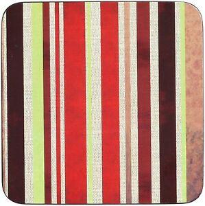 Set of 4 Inspire Eclipse Stripe Coasters - BUY 1 SET  GET 1 FREE SET