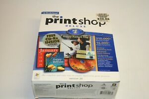 Broderbund The Print Shop Deluxe Version 2.9 Big Box NEW SEALED NOS