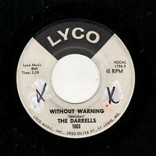 ST. LOUIS LATE DOOWOP/EARLY SOUL-DARRELLS-WITHOUT WARNING/SO TENDERLY-LYCO 1003