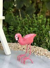 Miniatura Casa Delle Bambole Fairy Giardino Accessori ~ Tiny Fenicottero Rosa ~