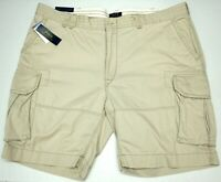 NWT $89 Polo Ralph Lauren Gellar Fatigue Cargo Shorts Mens Light Tan 100% Cotton