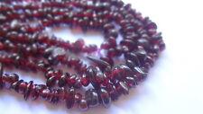 "Genuine Garnet Chip Semi Precious Gemstone Beads - 35"" Strand"