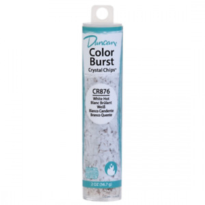 Duncan Color Burst Crystal Chips CR876 WHITE HOT Painting Ceramics Supplies