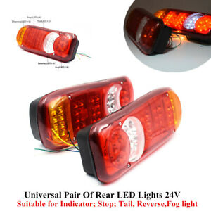 2xUniversal LED Trailer Lights Stop Reverse Indicator Fog Lamp Safety Truck Boat