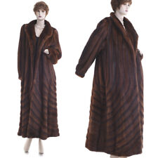 $28K LKNW! Extreme Beauty Paris Couture Red Auburn Mink Directional Swing Coat